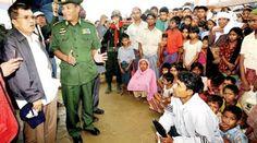 JK Jebol Blokade Myanmar, Dunia Islam Tercengang - Pertama yang Diizinkan Masuk ke Pemukiman Rohingya - Jusuf Kalla dan PMI saat bertemu dengan etnis muslim Rohingya di Myanmar /*ist