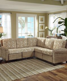 This Honey Cabana Banana II L-Shaped Sofa is perfect! #zulilyfinds
