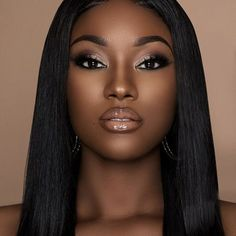 36 best eyeshadow ideas for black women make up dark skin ma Dark Skin Makeup, Dark Skin Beauty, Black Beauty, Black Girl Makeup Natural, Brown Smokey Eye Makeup, Makeup Light, Smoky Eye, Natural Cosmetics, Makeup Tricks