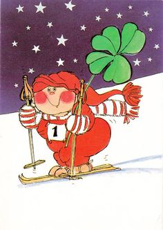 No luistellaankos Baumgarten, Whimsical Art, Christmas Cards, Xmas, Gnomes, Troll, All The Colors, Illustrators, Scandinavian