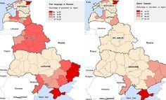 These maps show that the regions with a majority of Russian speaking population, do not actually have a majority of ethnic Russians. This destroys the Kremlins entire theory of protecting ethnic Russians outside of Russia.