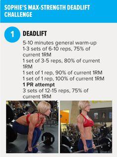 Sophie Arvebrink's Max Strength Deadlift Workout   Bodybuilding.com