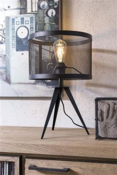 Table lamp Simon from COCO maison in black metal! Industrial Furniture, Industrial Design, Furniture Deals, Home Trends, Tripod Lamp, Furniture Inspiration, Discount Furniture, Light Fixtures, Kitchen Decor