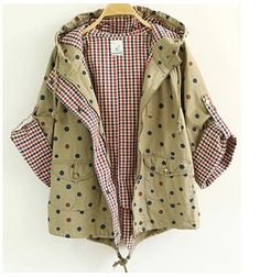 To find out about the Khaki Hooded Polka Dot Crop Coat at SHEIN, part of our latest Outerwear ready to shop online today! Blazer, Pretty Outfits, Cute Outfits, Jackets For Women, Clothes For Women, Latest Street Fashion, Fashion Dresses, Polka Dots, Street Style