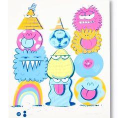 """Monsters in Paris"" print @klyonsnatborn x @stancesocks x #colette  #KevinLyons #stanceparis @stanceeurope in store & online"