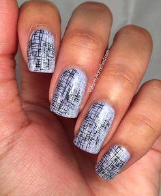 Nail art created by #ValiantlyVarnished using #BM706 #nailstamp #ShopBM