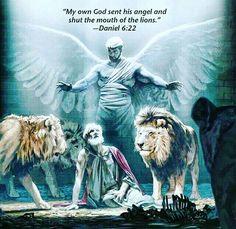 Daniel na cova dos leões.