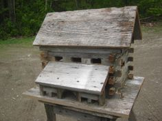 Ranch Style Birdhouse made from barn board.