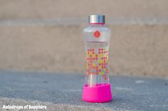 equa pink glass bottle A Burgundy Dress & Sunsets At The Beach