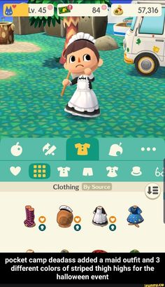 - pocket camp deadass added a maid outfit and 3 different colors of striped thigh highs for the halloween event - pocket camp deadass added a maid outfit and 3 different colors of striped thigh highs for the halloween event - iFunny :) Animal Crossing Memes, City Folk, Maid Outfit, Science Humor, Halloween Stuff, Steven Universe, Thigh Highs, Popular Memes, Nintendo Switch