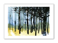 A fine art (Giclee) digital print made from my original watercolour painting. Printed on to archival Bockingford acid-free inkjet paper using