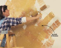 Love this decorative painting technique.  Super easy this way!