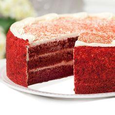 Red Velvet Cake w/ Cream Cheese Frosting
