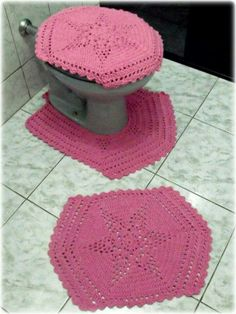 Jogo de banheiro stars rosa