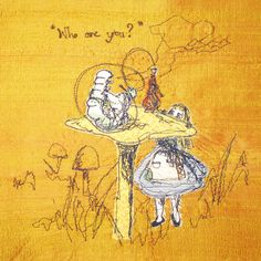 sumptuosity :: who are you? :: love this style of embroidery! Free Motion Embroidery, Free Machine Embroidery, Cross Stitch Embroidery, Lewis Carroll, Creative Textiles, Textile Fiber Art, Thread Painting, Mad Hatter Tea, Mellow Yellow