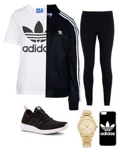 """Untitled #6"" by padilladaniela on Polyvore featuring Topshop, adidas Originals, NIKE, adidas and Michael Kors"