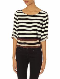 OBR Striped Popover Top from THELIMITED.com #TheLimited