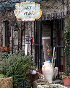 Quaint antique store, Carcassonne, France Carcassonne France, Storefront Signs, Sign Display, Shop Windows, Shop Fronts, Flea Markets, Store Signs, Antique Stores, Beautiful Buildings