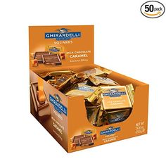Ghirardelli Chocolate Squares, Salted Caramel Chocolate, Chocolate Caramels, Delicious Chocolate, Chocolate Bars, Gourmet Recipes, Snack Recipes, Packing A Cooler, Reasons To Be Happy