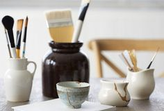 Using a modern interpretation of the ancient Japanese technique kintsugi,...