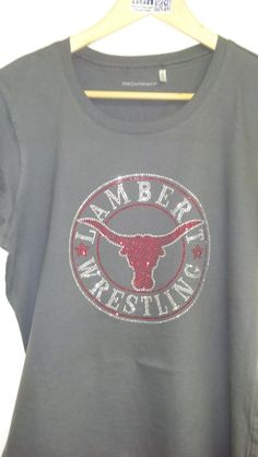 """Lambert Wrestling Bling shirt with over 1,200 Rhinestones at 8"""" in size."""