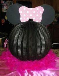 Minnie Mouse centerpiece_Black Paper Lantern - cardstock-scrapbook paper-boa