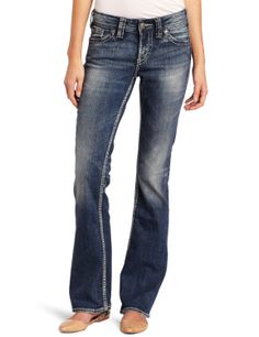 Silver Jeans Juniors Suki Surplus Mid Rise Bootcut Jean           ($88.00) http://www.amazon.com/exec/obidos/ASIN/B0083SVEMY/hpb2-20/ASIN/B0083SVEMY Comfy, fit great and I love the color. - My Silver jeans are my absolute favorite and always what I reach for no matter what the occasion. - I am 5'9'', the 32 inseam is perfect for me.