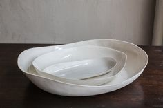 CHRISTIANE PERROCHON WHITE PORCELAIN SHELL OVAL DISH SA2.5.28 | Dmitriy & Co.