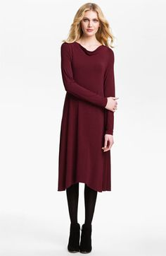 Eileen Fisher Drape Neck Dress | Nordstrom would love with a great pair of boots