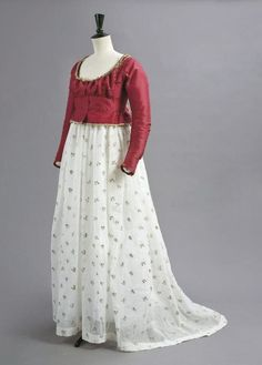 dress detail 1790 | 1790s gown