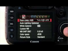 Tutorial for setting bracketing on canon 7d for HDR