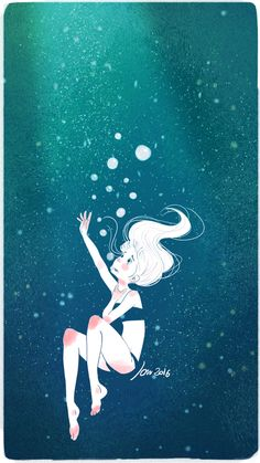 The drowning on Behance Underwater Drawing, Ocean Drawing, Art Poses, Drawing Poses, Art And Illustration, Drowning Art, Person Drawing, Arte Sketchbook, Anime Poses Reference
