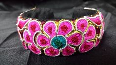 Hmong Vintage Handmade Miao Chinese embroidered bangle by WingsBox, $30.00
