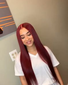 Thriving Hair Pure Burgundy Red Color Virgin Human Hair Smooth Silky Straight Full Lace Wigs For Women Red Burgundy Hair Color, Bright Red Hair, Red Color, Silky Hair, Smooth Hair, Lace Front Wigs, Lace Wigs, Rose Hair, Violet Hair