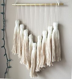 dip dye tassel wall hanging tassel mobile yarn wall hanging