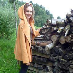 Maternity-Wool-Coat I button-up-Coat I Hooded-Coat by LilaCreates Wool Coat, Button Up, Hoods, Maternity, Cowls, Cooker Hoods, Wool Pea Coat, Food, Range Hoods
