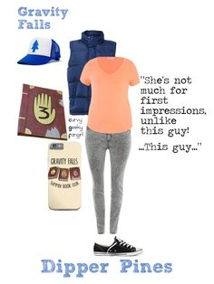 """Gravity Falls:Dipper Pines"" by curvygeekyfangirl ❤ liked on Polyvore featuring JunaRose, LE3NO, maurices, Converse, women's clothing, women, female, woman, misses and juniors"