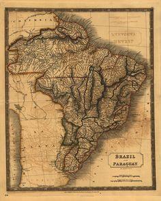 #Brazil - #Paraguay #Map, 1828