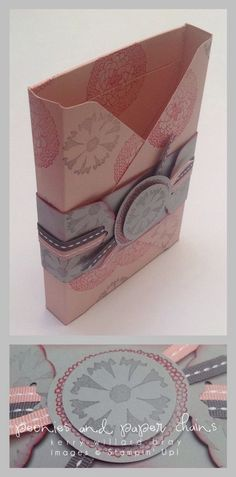 Notecard box made with the Stampin' Up! Envelope Punch Board, Kerry Willard Bray, www.peoniesandpaperchains.com