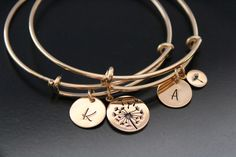 Dandelion Bracelets Mother Daughter bracelet set of 2 bracelets Gold bracelet Gift for Mom Daughter gift from mom Mother of the Bride Gift Mother Daughter Bracelets, Mom Daughter, Pink Earrings, Stud Earrings, Bracelet Set, Bangle Bracelets, Personalized Bracelets, Mom Birthday Gift, Initial Charm