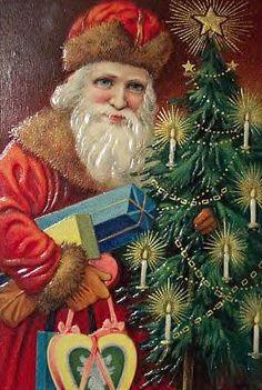 St. Nicholas vintage Christmas postcard