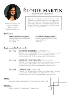 Résolu - Résolue à être rigoureux et pro! C'est ce qu'inspire ce CV simple.