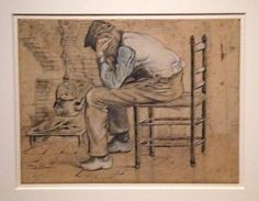 'Worn out': drawing by Van Gogh at a new exhibition at the Bam, Mons 2015