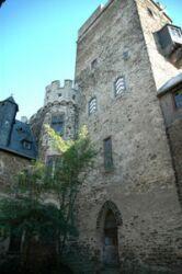 Lahneck Castle inner courtyard, Germany
