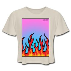 SICKIE THREADS   FLAMES N STUFF - Womens Cropped T-Shirt Unique Outfits, Comfortable Fashion, Unisex, Crop Tops, Mens Tops, T Shirt, Clothes, Style, Supreme T Shirt