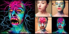 Stay Evil Freaky Scary Makeup Transformations by the Talented Stephanie Fernandez (7 Images)