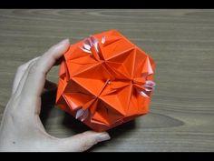 Origami SEASTAR kusudama 折り紙 くす玉 3 解りやすい - YouTube