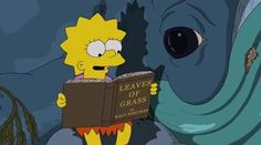 Lisa Simpson reading Leaves of Grass