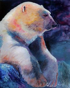 Polar Bear Painting by Sherry Shipley - Polar Bear Fine Art Prints and Posters for Sale