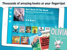 "With over 5,000 books available now and more than 300 new titles added each week, Epic! has been called the ""Netflix of kids books"" – it's an unlimited library your kids can take anywhere!"